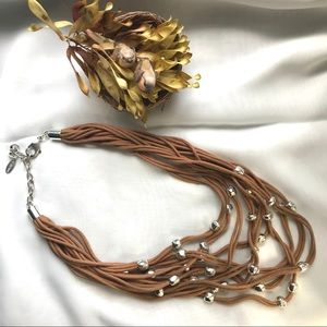 St. Thomas Leather String beaded necklace